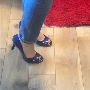 Shoes - Blue peep toes